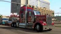 Camion rouge, dans American Truck Simulator
