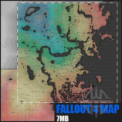mapa Detalhado Fallout 4