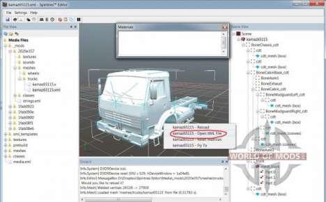 Malha-arquivo de modo de exibição no SpinTires Editor