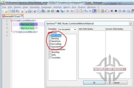 nó XML edição