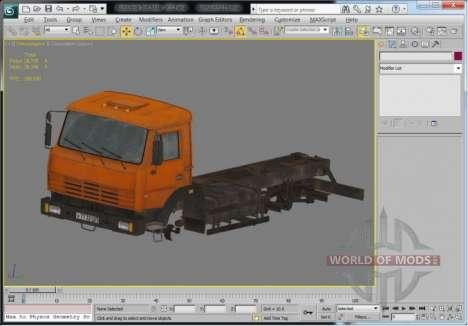 Caminhão de ver em 3D Max