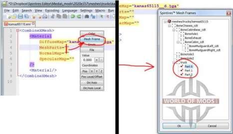 Malha Quadros navegador de arquivos.