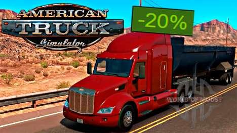 American Truck Simulator 20% de desconto no Steam