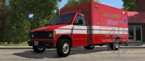 H-Série Ambulância variante de BeamNG Drive - vista frontal