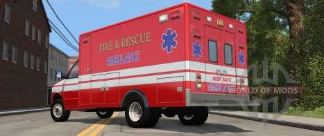 H-Série Ambulância variante de BeamNG Drive - vista traseira