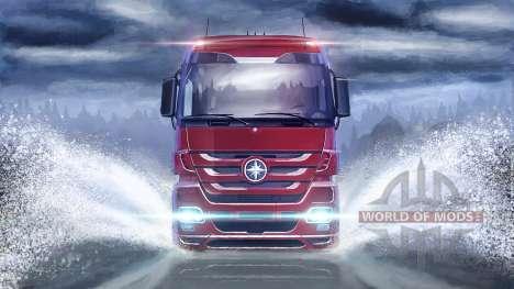 Sobre a superfície da água em Euro Truck Simulator 2