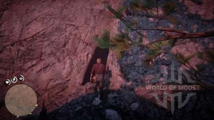 Rochas com uma caverna no RDR 2