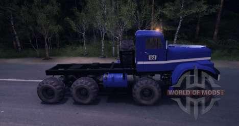 KrAZ 8x8 julgamento para Spin Tires