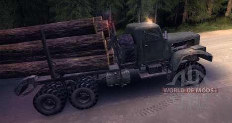 KrAZ neve de caminhão de madeira velha para Spin Tires