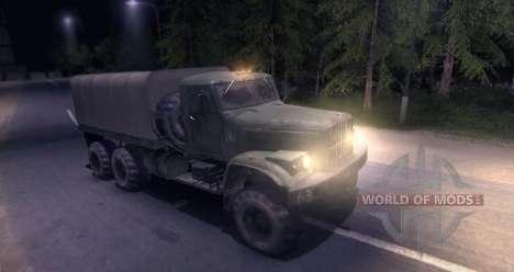 KrAZ caminhão para Spin Tires