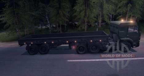 Caminhões com reboque para Spin Tires