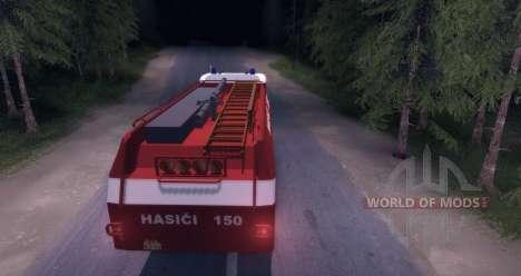 Tatra 148 Firetruck para Spin Tires
