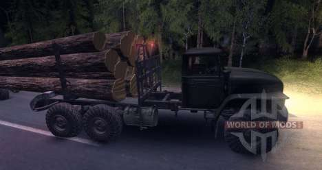 O portador de madeira dos montes Urais para Spin Tires
