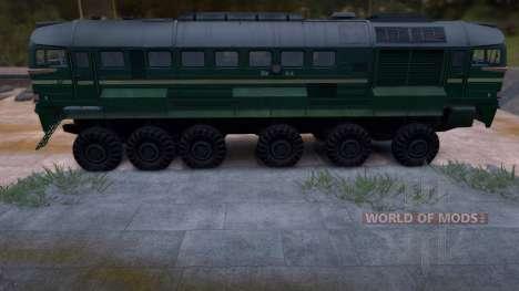 M62 rodas trem v 1.0 para Spin Tires