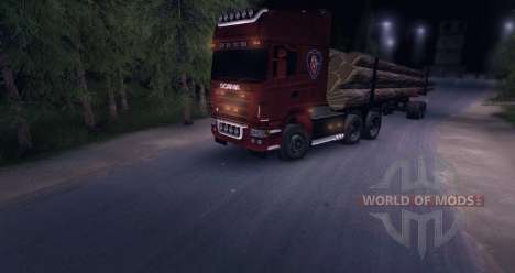 Scania R620 Logging Truck para Spin Tires