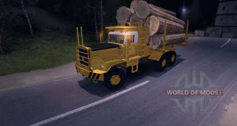 Hayes HQ 142 (HDX) Logging Truck para Spin Tires
