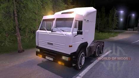 KAMAZ-6460 branco para Spin Tires