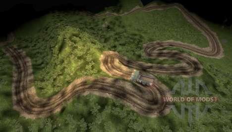 Mapa das aventuras caminhão extrema para Spin Tires