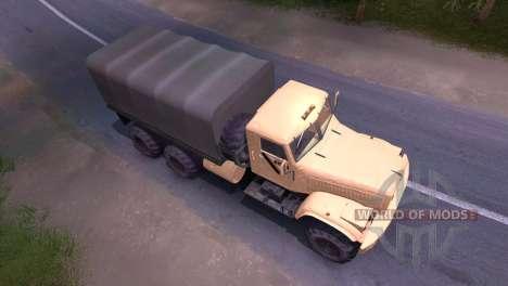 Caminhão KrAZ-creme para Spin Tires