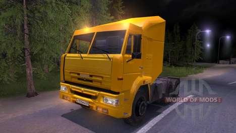 KAMAZ-65116 amarelo para Spin Tires