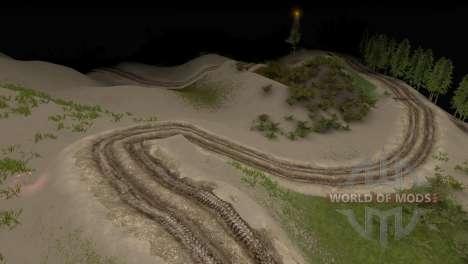 Mapa da floresta 3 para Spin Tires