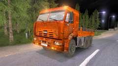 KAMAZ-65117 muddy-laranja