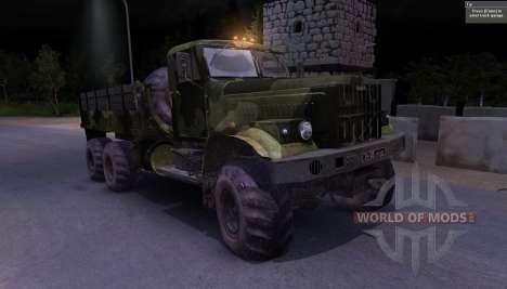 KrAZ caminhão Camo para Spin Tires