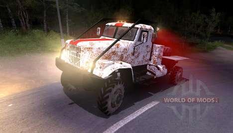 Pak e KrAZ caminhões para Spin Tires