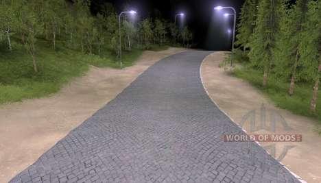 A estrada de pavers para Spin Tires