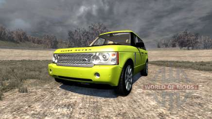 Range Rover Supercharged 2008 [Yellow] para BeamNG Drive