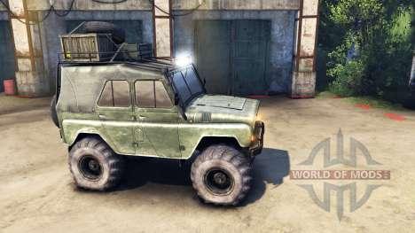 Modernizada UAZ-469 v1.1 para Spin Tires