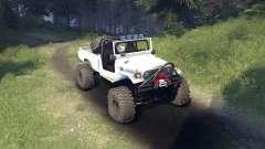 Toyota FJ40 White para Spin Tires
