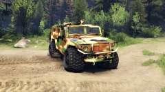 O GAZ-2975 Tigre camo