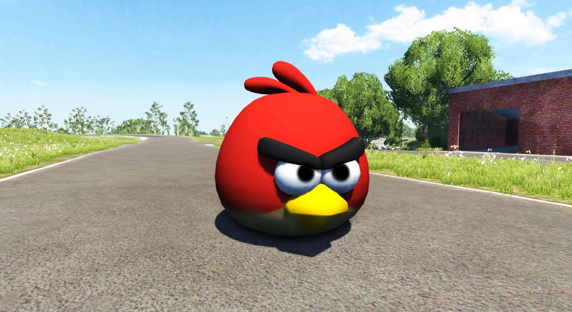 Como Desenhar O Pássaro Vermelho De Angry Birds: Pássaro Vermelho (red) Angly Pássaro Para BeamNG Drive