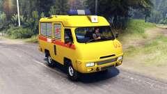 UAZ 2925 CARROS para Spin Tires