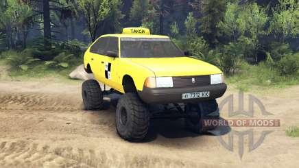 AZLK Moskvich 2141 táxi monstro v1.1 para Spin Tires