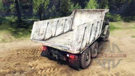 O corpo do caminhão Ural para Spin Tires
