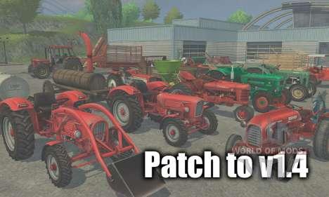 Patch para a versão 1.4 para Farming Simulator 2013