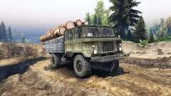 GAZ-66 com cabine dupla para Spin Tires