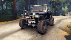 Jeep YJ 1987 Open Top black para Spin Tires