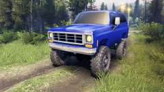 Chevrolet K5 Blazer 1975 v2.5 blue para Spin Tires