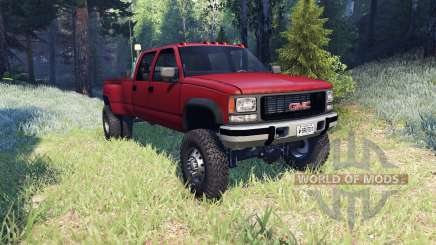 GMC Suburban 1995 Crew Cab Dually red para Spin Tires