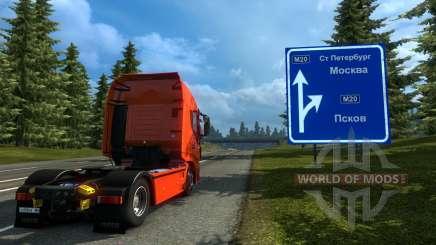 Rússia Mapa - Orient Express para Euro Truck Simulator 2