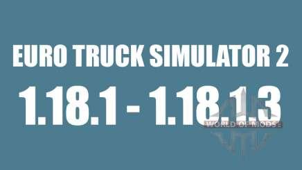 Patch 1.18.1 - 1.18.1.3 para Euro Truck Simulator 2