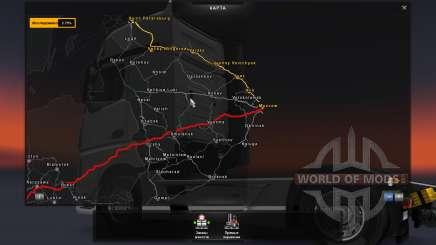 Mapa Da Rússia - RusMap para Euro Truck Simulator 2
