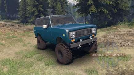 International Scout II 1977 bimini blue poly para Spin Tires