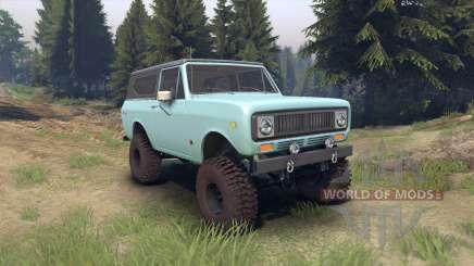 International Scout II 1977 glacier blue para Spin Tires