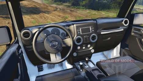 Jeep Wrangler white para Spin Tires
