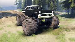 Chevrolet Bel Air 1955 Monster black para Spin Tires