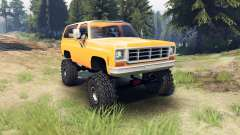 Chevrolet K5 Blazer 1975 [final] [orange] para Spin Tires